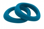 Organic Bangle Teal Blue