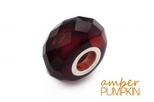 Dark Cherry Faceted Amber Charm Bead