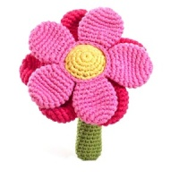 Pebble Flower Rattle - Pink