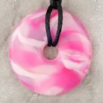 Teething Bling Pendant - Pink Calacite