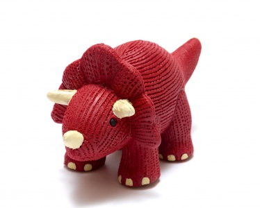 My First Triceratops Natural Rubber Dinosaur Toy