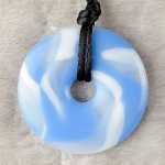Teething Bling Pendant - Sky Blue Swirl