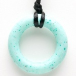 Teething Bling Ring Pendant - Jade