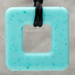 Teething Bling Pendant - Jade Square