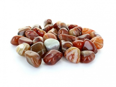 Red Banded Agate Tumblestone Crystal Gemstones