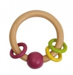 Wooden Rattle - Pink