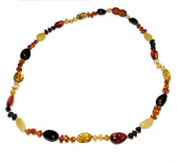 Adult Baroque Olive Amber Necklace