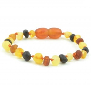 UNPOLISHED Baroque Amber Child Clasp Bracelet / Anklet
