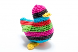 Multi Stripe Knitted Bird - small