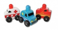 Discoveroo Squeaker Emergency Car Set