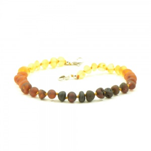 Adjustable Unpolished Rainbow Amber Anklet / Bracelet